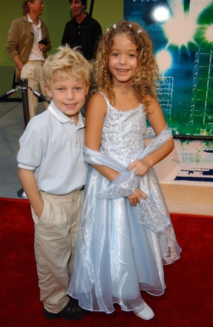 Jimmy Pinchak and Sasha Pieterse at the WB Television Network's 2002 Summer Party.