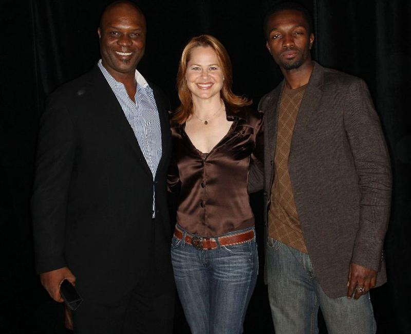 Robert Wisdom, Deirdre Lovejoy and Jamie Hector at the 24th Annual Television Critics Association Awards Show.