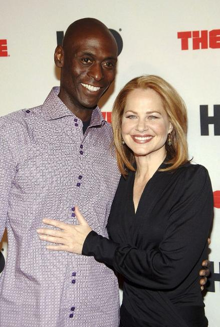 Lance Reddick and Deirdre Lovejoy at the premiere of
