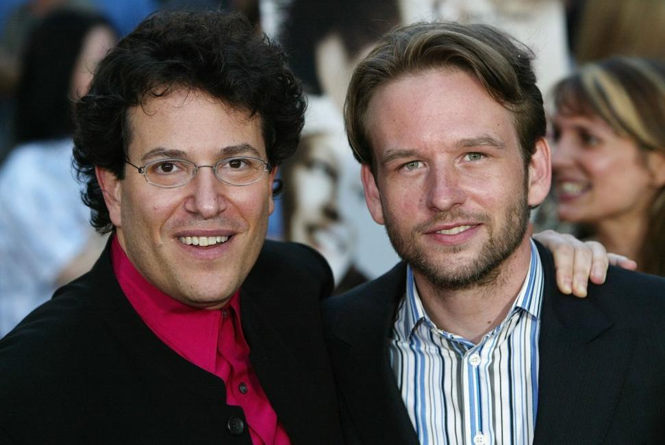 Director Michael Mayer and Dallas Roberts at the premiere of