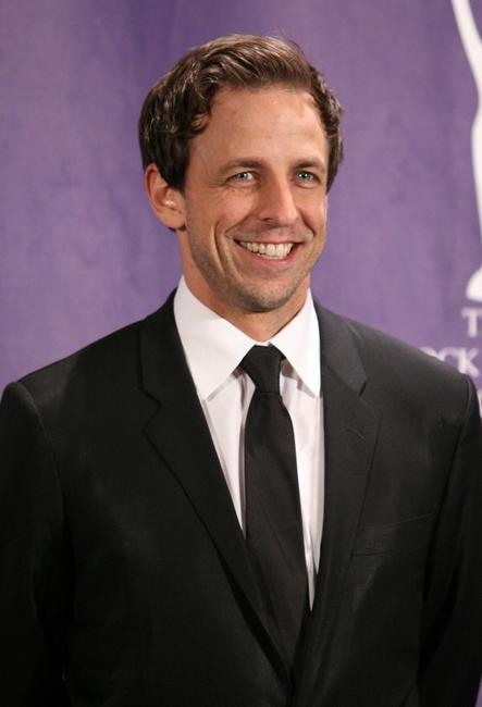 Seth Meyers at the 2008 Rock and Roll Hall of Fame Induction ceremony.