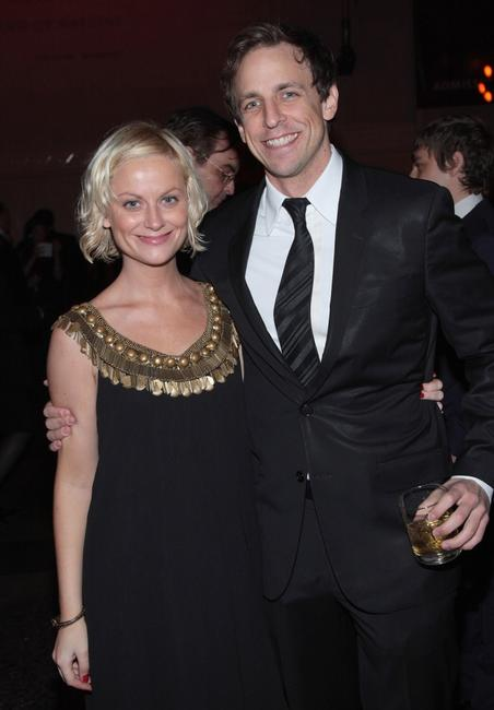 Amy Poehler and Seth Meyers at the Museum Gala 2007.