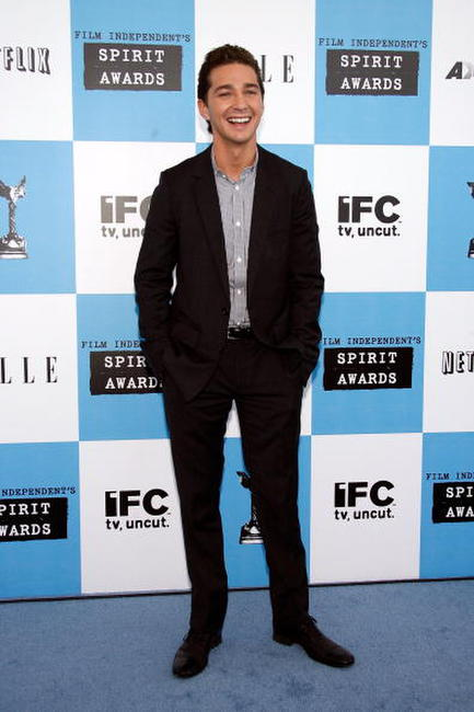 Shia LaBeouf at the 22nd annual Film Independent Spirit Awards in California.