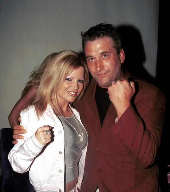 Rene Sloan and Daniel Baldwin at the Annual Benchwarmer party.