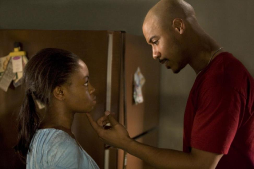 Hope Olaide Wilson as Jennifer and Brian J. White as Randy in