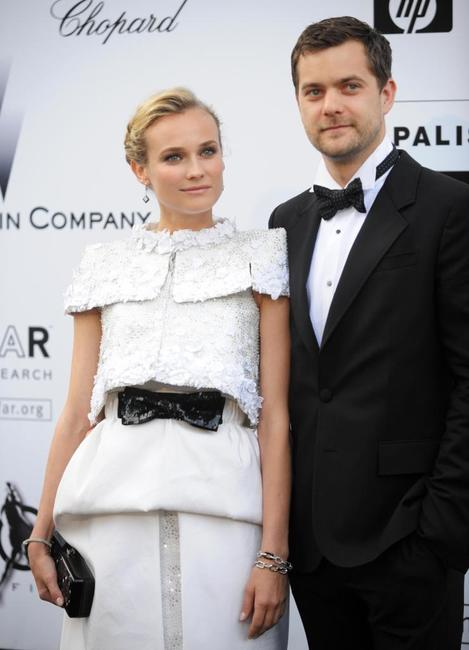 Diane Kruger and Joshua Jackson at the Amfar auction in southern France.