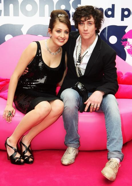 Georgia Groome and Aaron Johnson at the UK premiere of