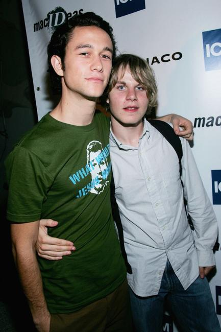 Joseph Gordon Levitt and Brady Corbet at the 2004 Toronto International Film Festival.