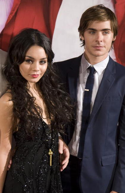 Vanessa Hudgens and Zac Efron at the screening of