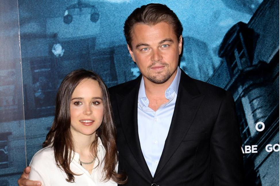 Ellen Page and Leonardo DiCaprio at the photocall of