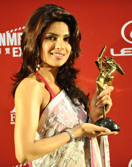 Priyanka Chopra at the third Asian Film Awards Ceremony.