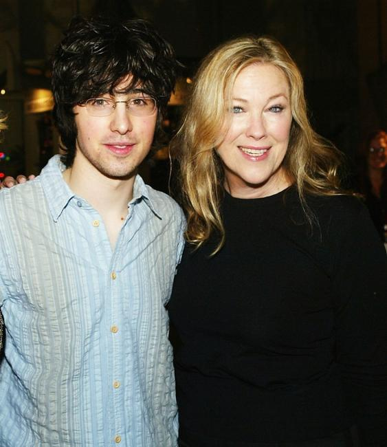 Josh Zuckerman and Catherine O'Hara at the premiere of