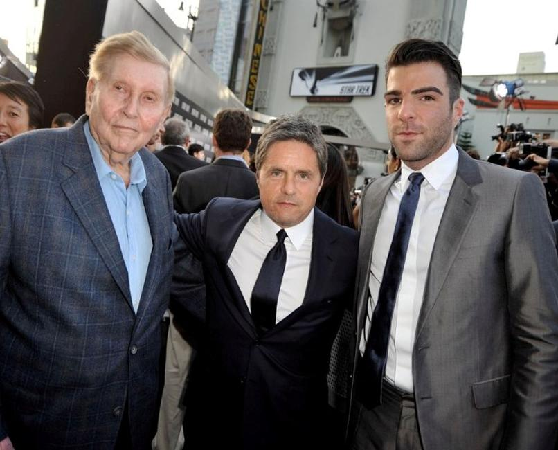 Summer Redstone, Brad Grey and Zachary Quinto at the Los Angeles premiere of
