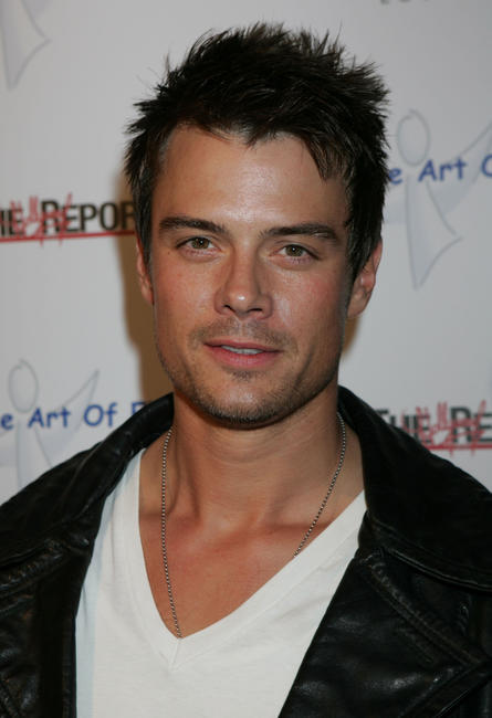 Josh Duhamel at the West Coast opening of works by artist Russell Young in Los Angeles, California.