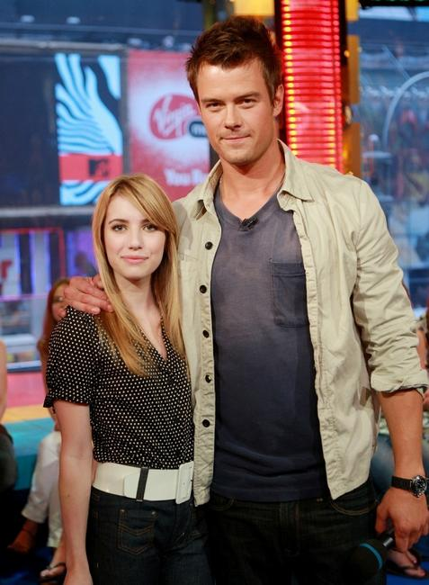 Emma Roberts and Josh Duhamel at the MTV's Total Request Live.
