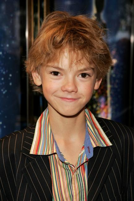 Thomas Sangster at the premiere of