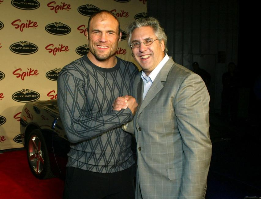 Randy Couture and Spike TV President Albie Hecht at the Spike TV Presents Auto Rox: The Automotive Award Show.