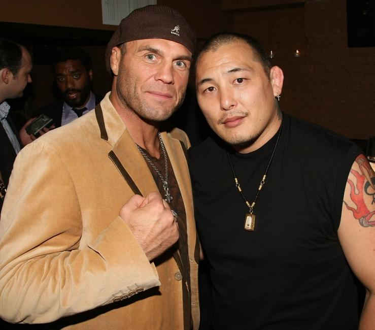 Randy Couture and Enson Inoue at a private party hosted by David Mamet for