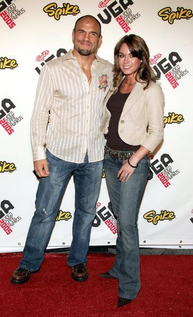 Randy Couture and Rochelle at the Spike TV Video Game Awards 2005.