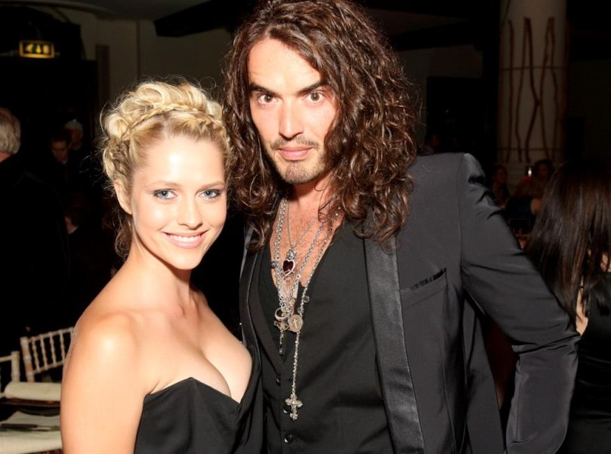 Teresa Palmer and Russell Brand at the Black Ball UK in aid of