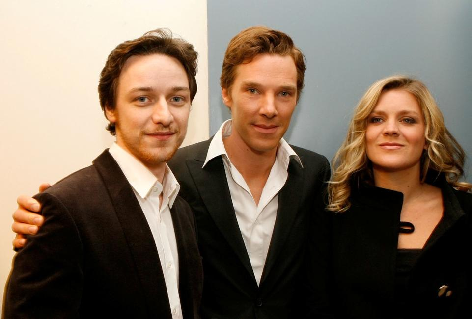James McAvoy, Benedict Cumberbatch and Alice Eve at the Los Angeles premiere of