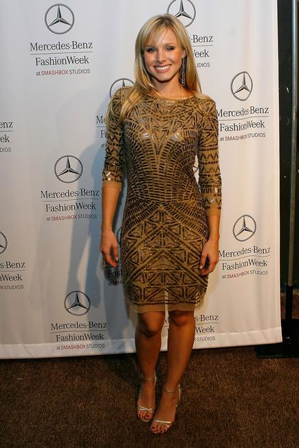 Kristen Bell at Mercedes Benz Fashion Week in Culver City.