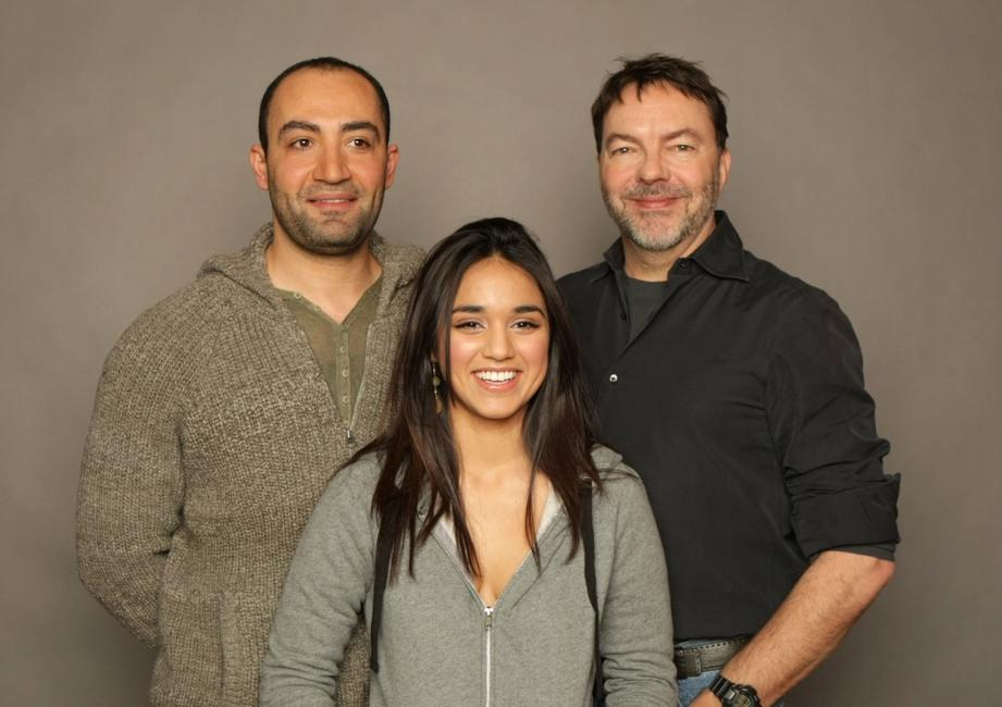 Peter Macdissi, Summer Bishil and Alan Ball at the Miners Club during the 2008 Sundance Film Festival.