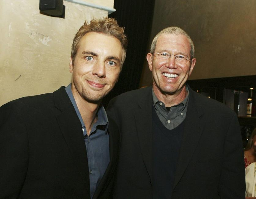 Dax Shepard and Michael Paseornek at the afterparty premiere of
