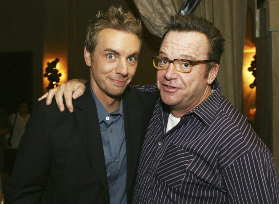 Dax Shepard and Tom Arnold at the afterparty premiere of