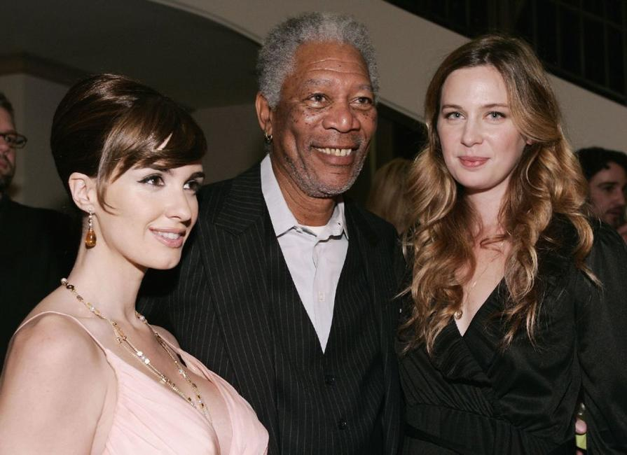 Paz Vega, Morgan Freeman and Anne Dudek at the after party of the Los Angeles premiere of