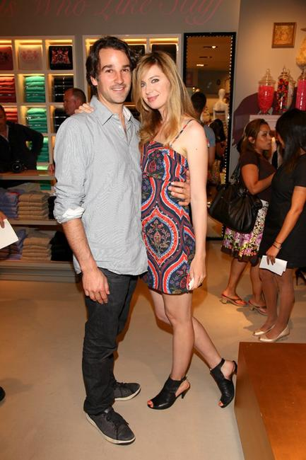 Matthew Heller and Anne Dudek at the opening of Juicy store in Toronto.