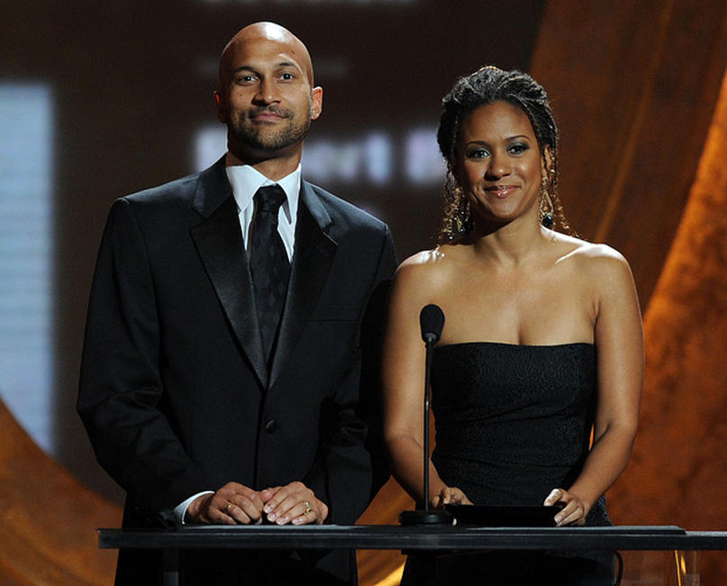Keegan-Michael Key and Tracie Thoms at the 41st NAACP Image Awards in California.