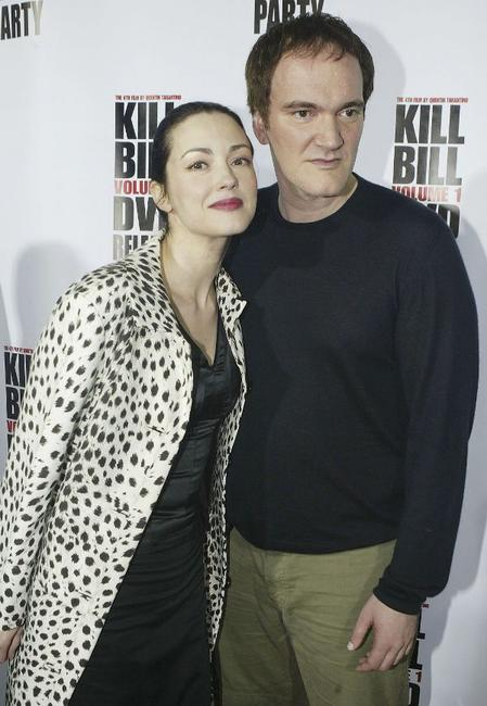 Julie Dreyfus and Quentin Tarantino at the