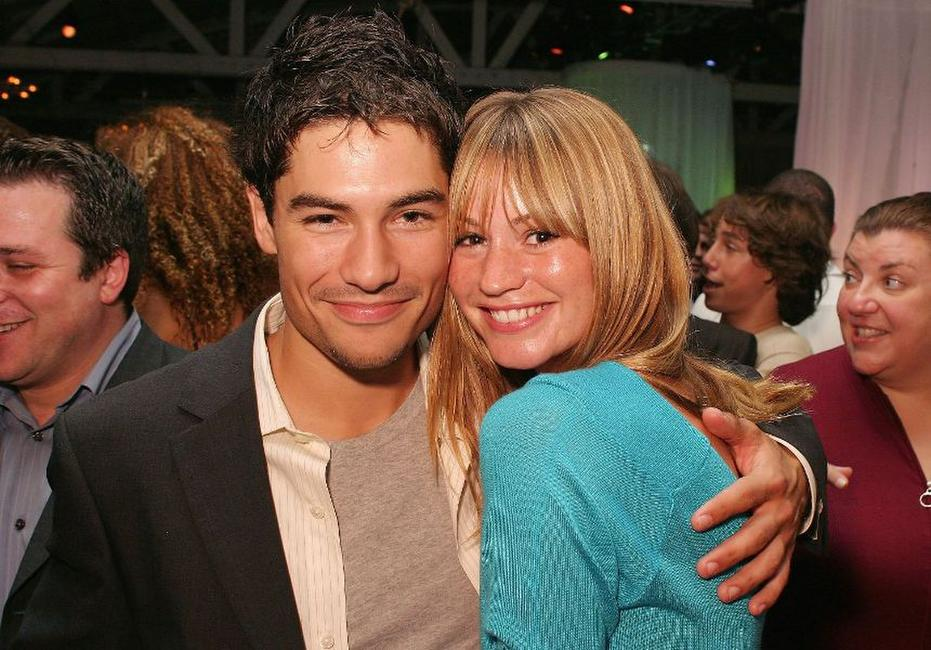 D.J. Cotrona and Cameron Richardson at the premiere of