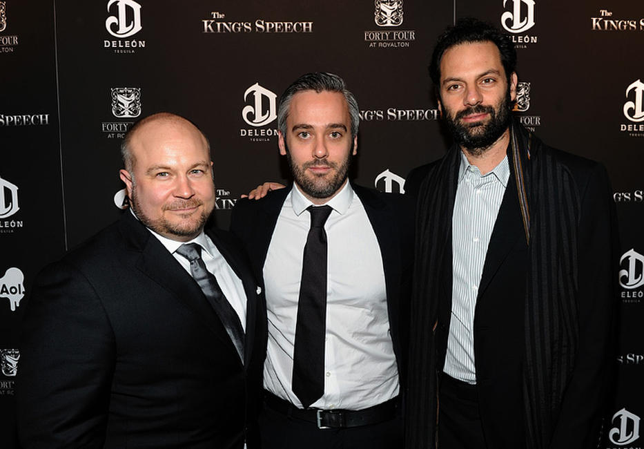 Gareth Unwin, Iain Canning and Emile Sherman at the premiere of