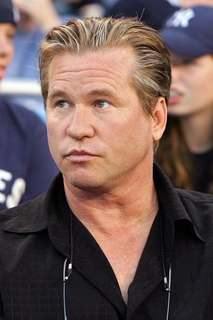 Val Kilmer at the Cleveland Indians take on the New York Yankees during Game Three of the American League Division Series.