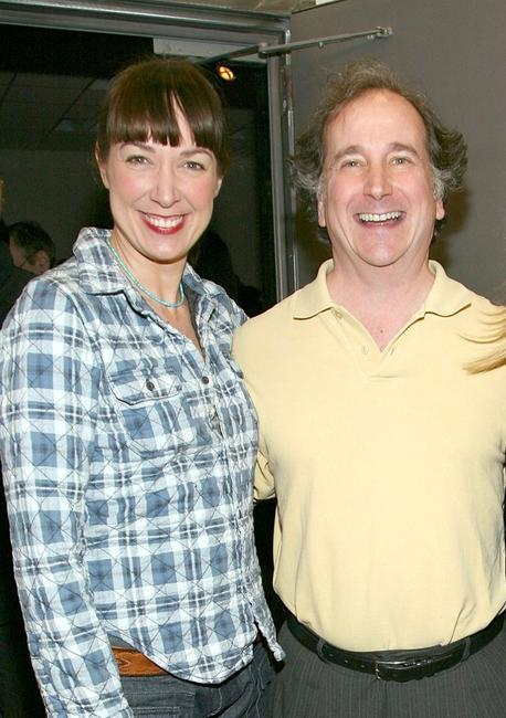 Elizabeth Marvel and Mark Linn Baker at the opening night of