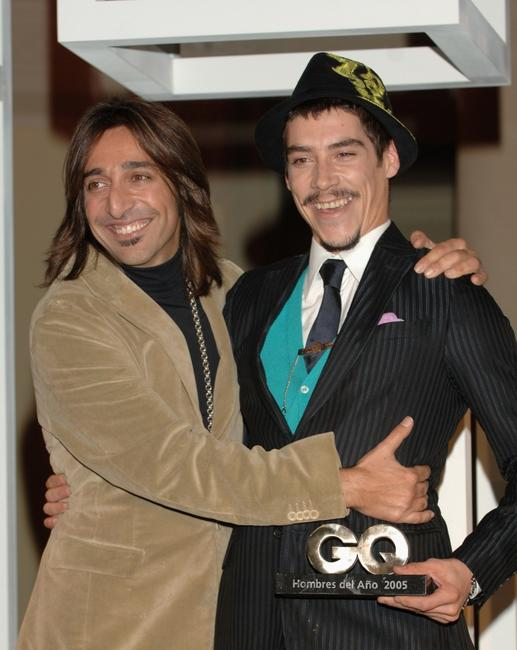 Oscar Jaenada and Guest at the GQ Magazine Awards.