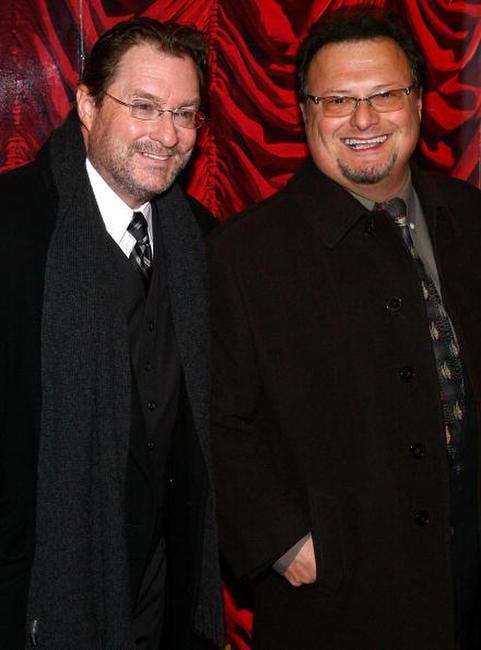 Stephen Root and Wayne Knight at the Broadway opening night of