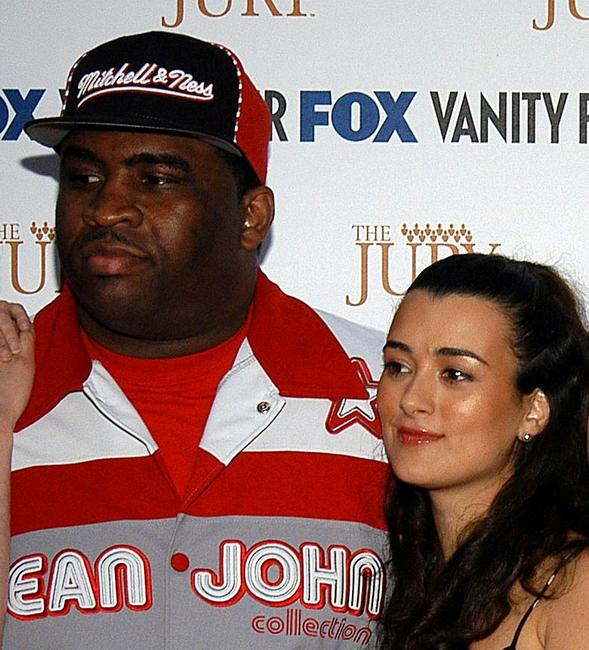 Patrice O'Neal and Cote De Pablo at the launch party of