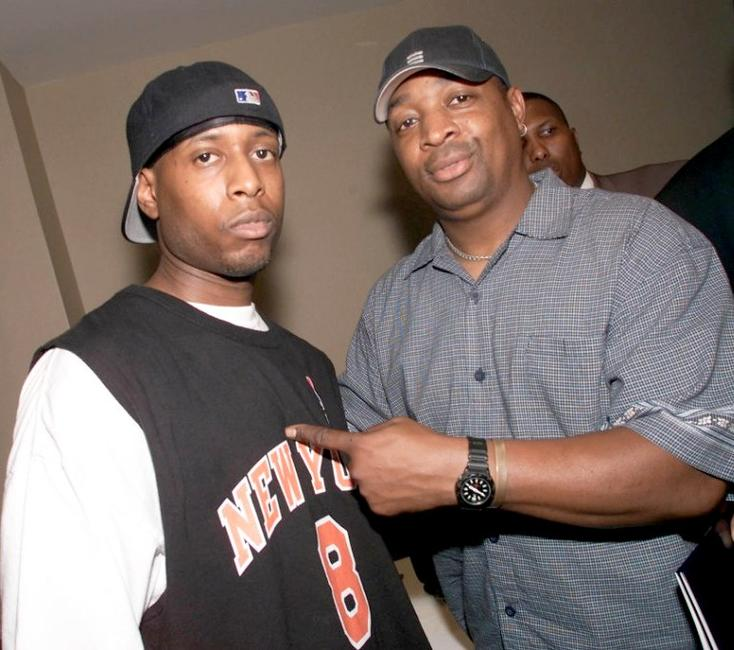 Talib Kweli and Chuck D at the Taking Back Responsibility Hip Hop Summit.