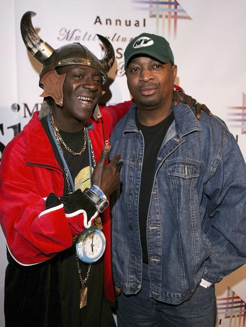 Flavor Flav and Chuck D at the 9th Annual Multicultural Prism Awards.