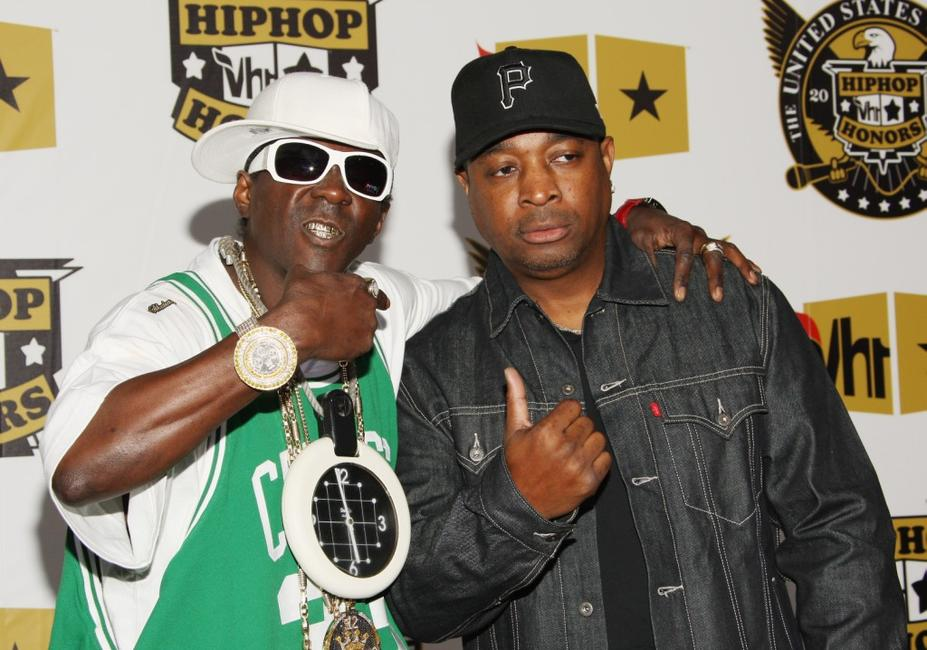 Flavor Flav and Chuck D at the 2008 VH1 Hip Hop Honors.