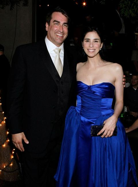 Rob Riggle and Sarah Silverman at the Comedy Central Emmy After Party.