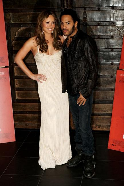 Mariah Carey and Lenny Kravitz at the photocall of
