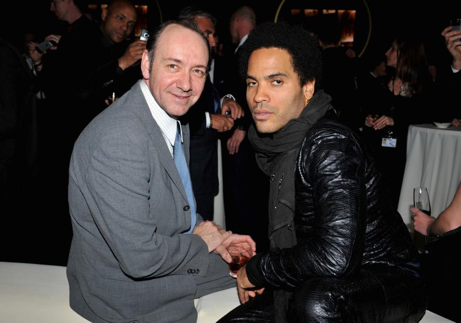 Kevin Spacey and Lenny Kravitz at the