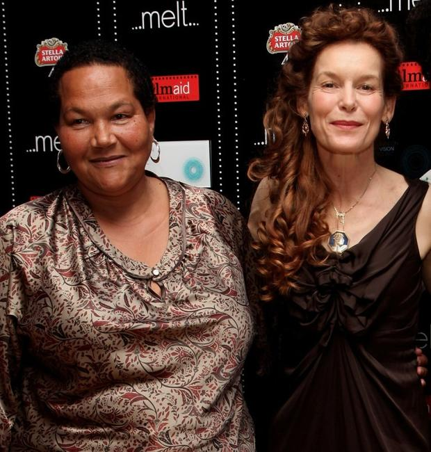 Sandra Laing and Alice Krige at the UK premiere of