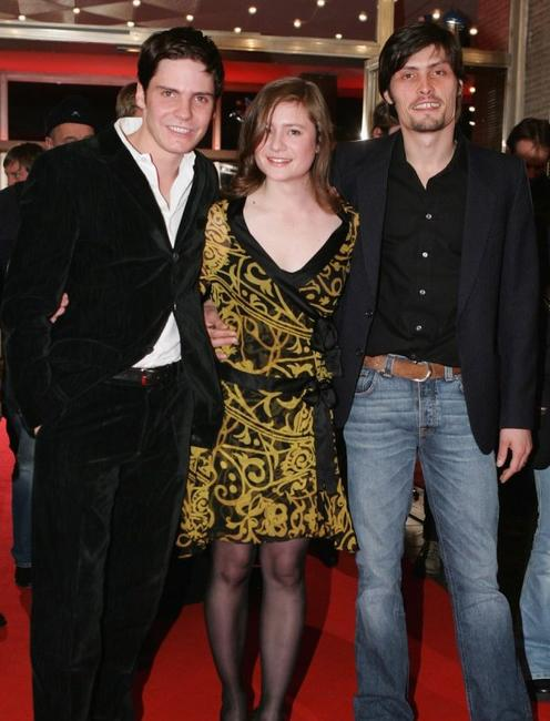 Bruehl, Julia Jentsch and Stipe Erceg at the premiere of