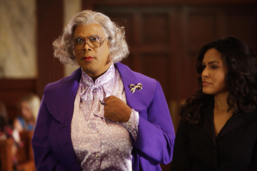 Tyler Perry as Madea and Ion Overman as Linda in