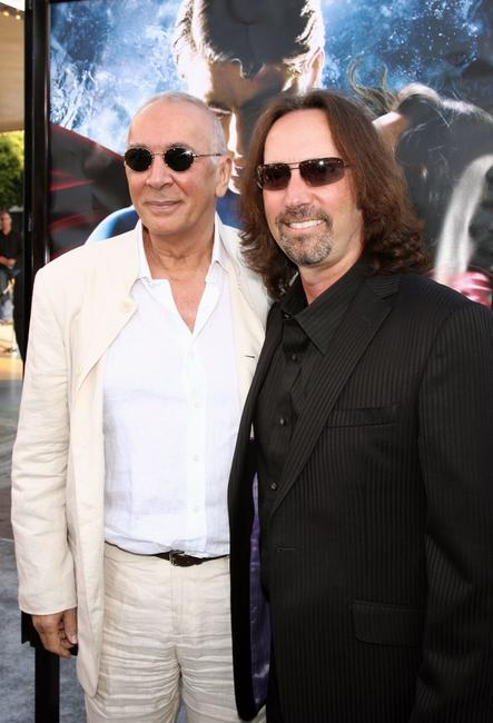 Frank Langella and Scott Mednick at the UK premiere of